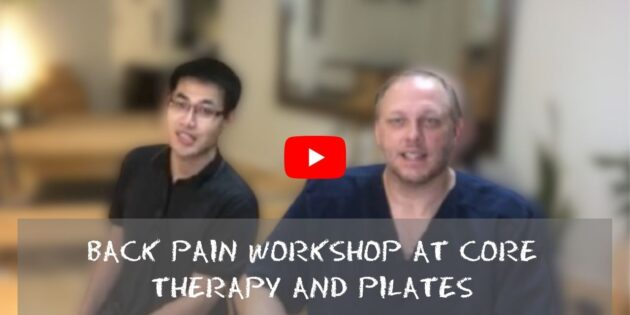 Back Pain Workshop at CORE Therapy and Pilates