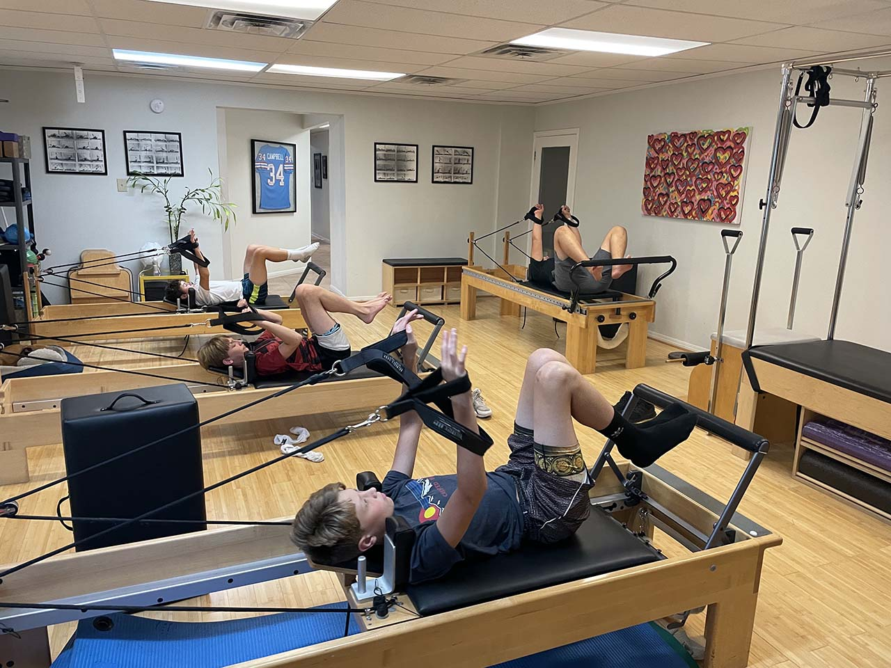 Pilates and weight training combo class at CORE Therapy & Pilates 4