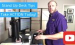 Try These Tips at the Stand Up Desk - How To Stand at a Stand Up Desk