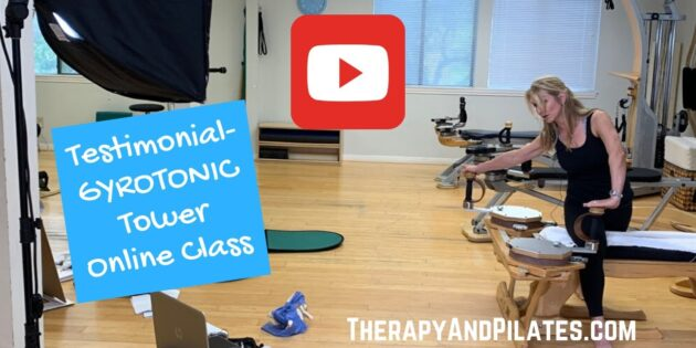 Virtual Personal Training Testimonial- GYROTONIC Tower Online Class with Master Trainer, Cheryl Dunn (BQ)
